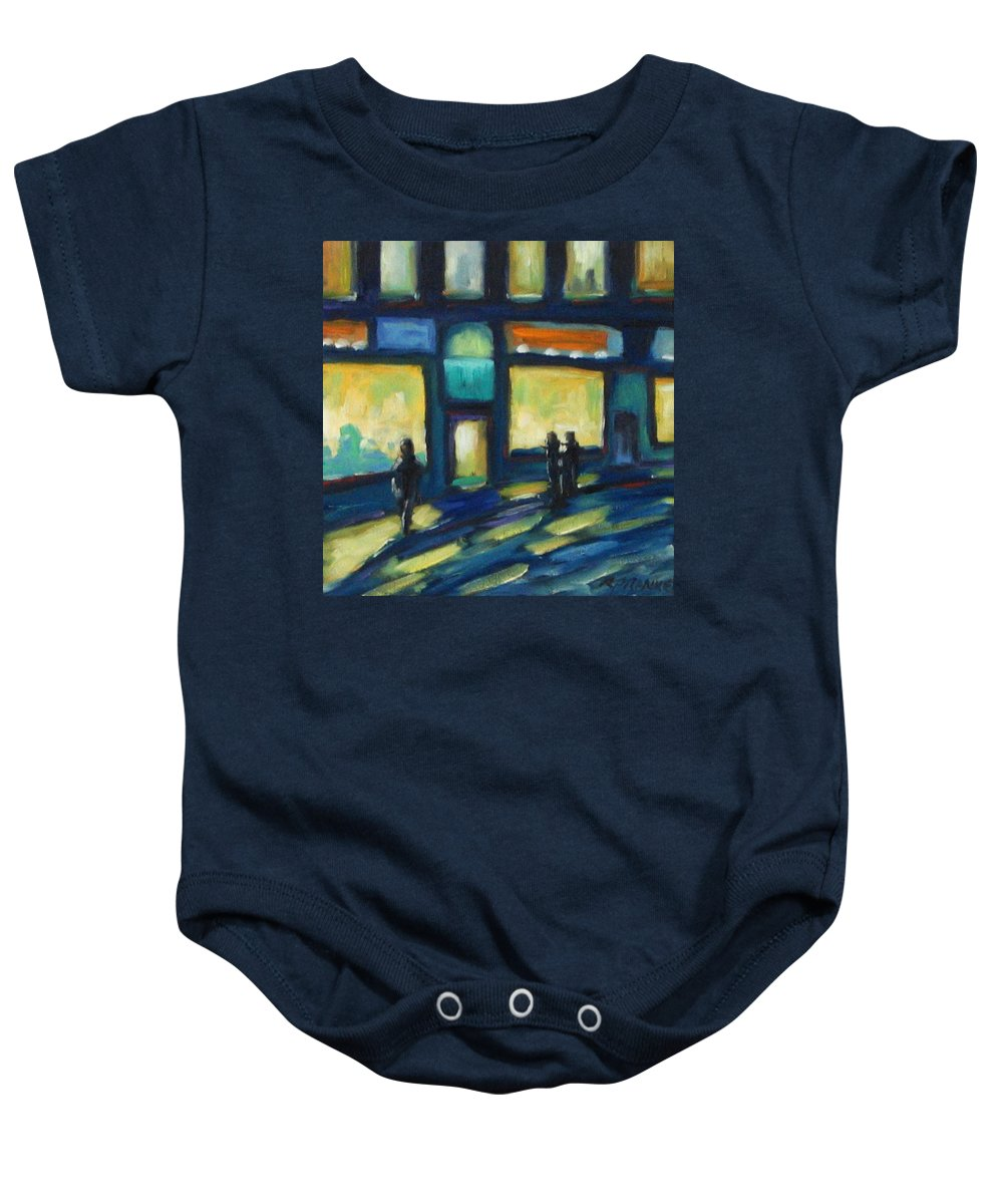 Town Baby Onesie featuring the painting Just Looking by Richard T Pranke