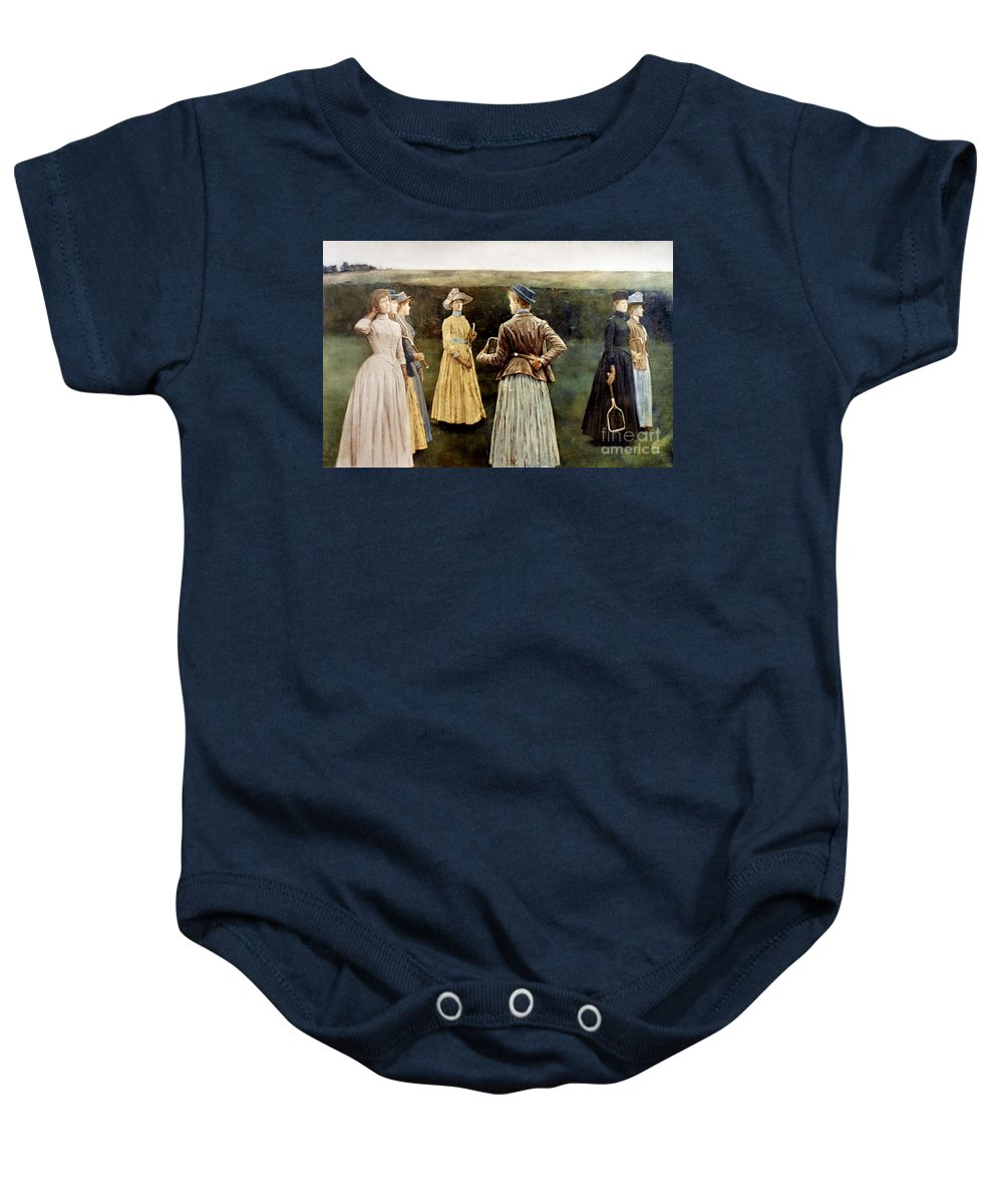 1889 Baby Onesie featuring the photograph Khnopff: Memoires, 1889 by Granger