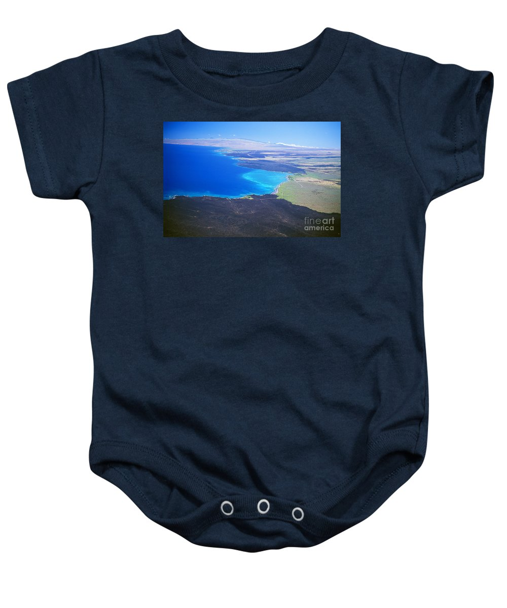 Above Baby Onesie featuring the photograph Kiholo Bay, Aerial View by Peter French - Printscapes