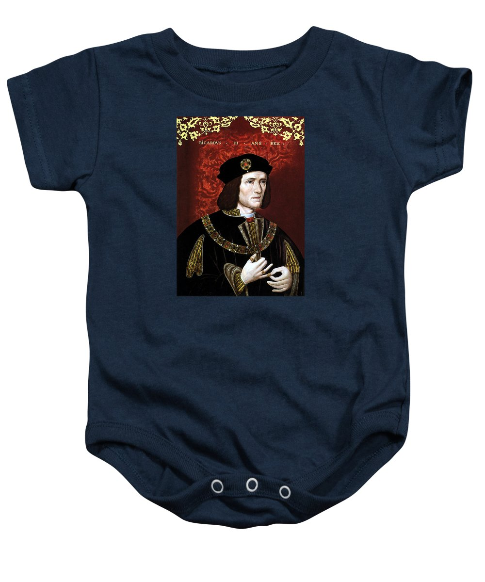 Richard Iii Baby Onesie featuring the painting King Richard IIi Of England by War Is Hell Store