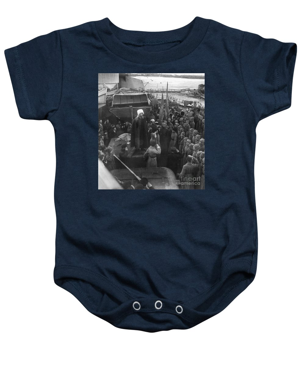 1921 Baby Onesie featuring the photograph Kronstadt Mutiny, 1921 by Granger