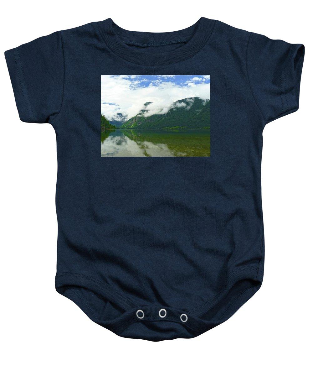 Bohinj Baby Onesie featuring the photograph Lake Bohinj by Daniel Csoka