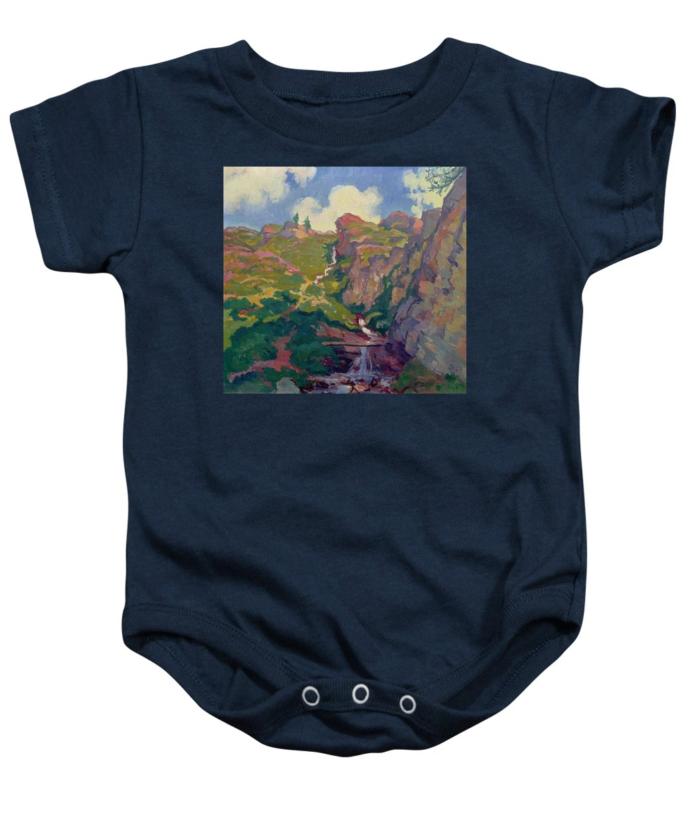 Giovanni Giacometti Bergbach Baby Onesie featuring the painting Landscape by Giovanni Giacometti Bergbach