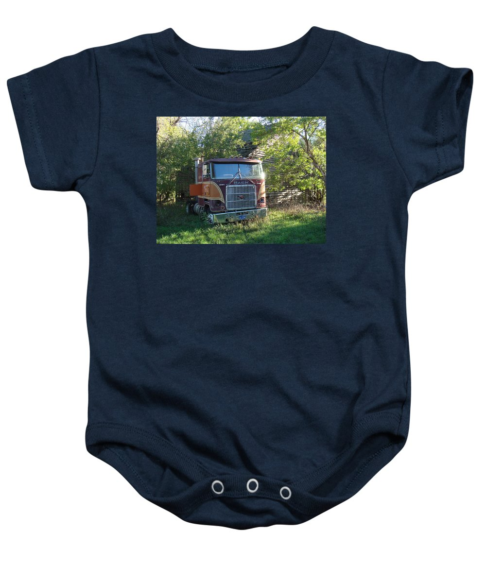 Mack Baby Onesie featuring the photograph Last Ride by Bonfire Photography