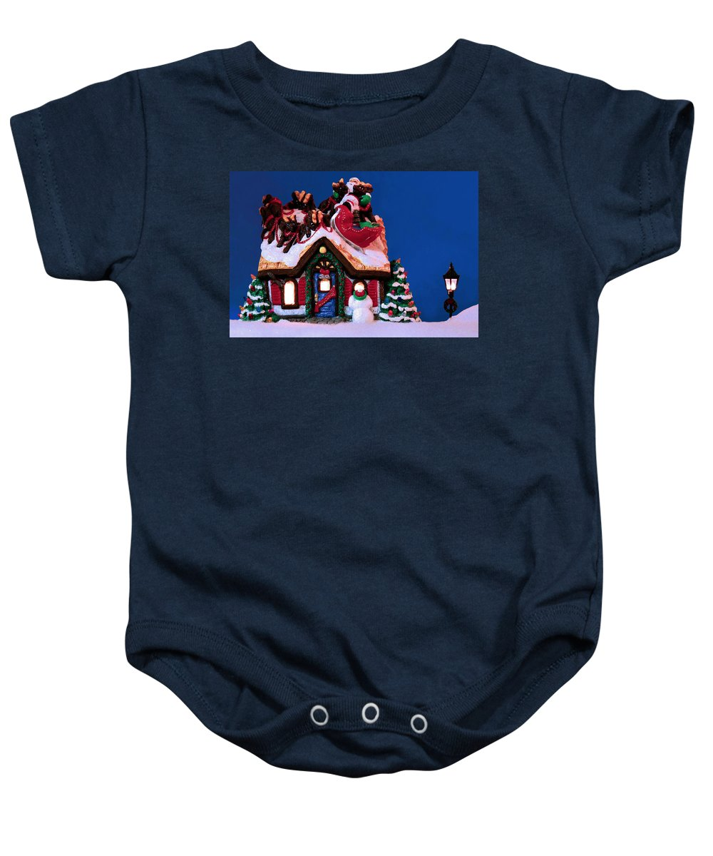 Christmas Baby Onesie featuring the photograph Last Stop For Santa by Kristin Elmquist
