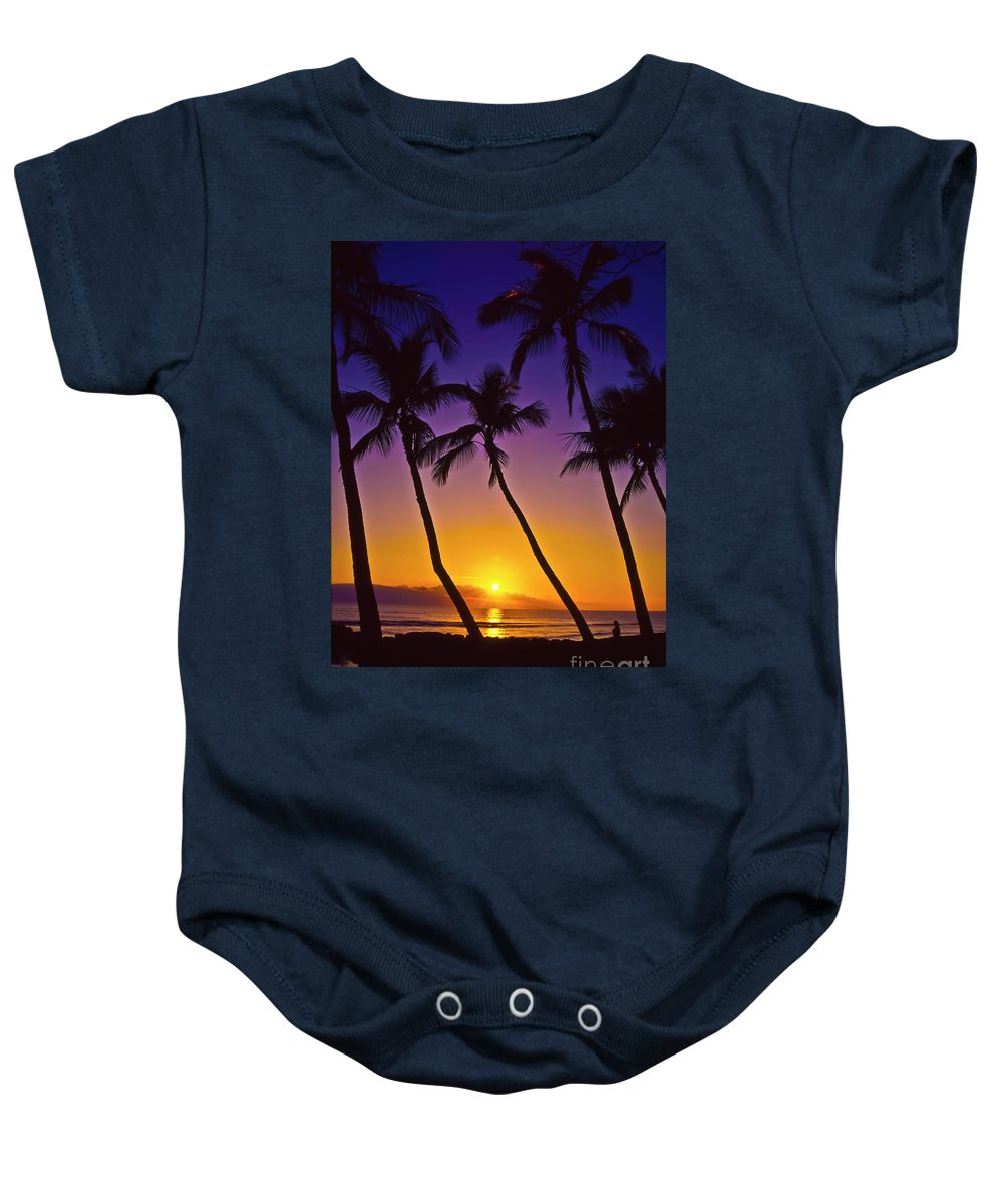 Sunset Baby Onesie featuring the photograph Launiupoko Sunset by Jim Cazel