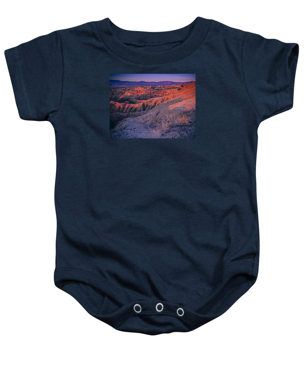 California Baby Onesie featuring the photograph Layers Of Light by Justin Lowery