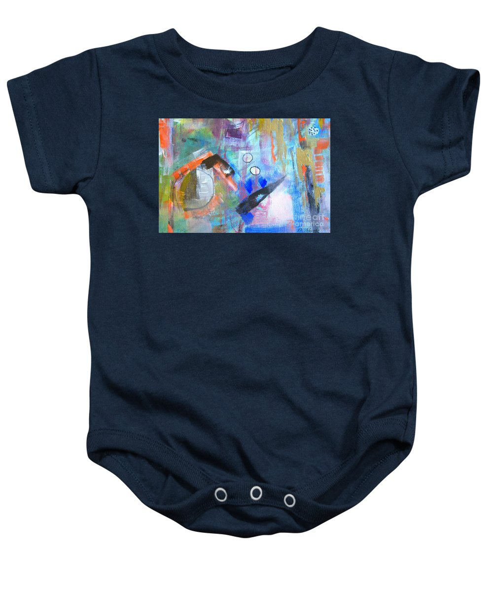 Fine Art Baby Onesie featuring the painting Let Go by Dorothy Mienko