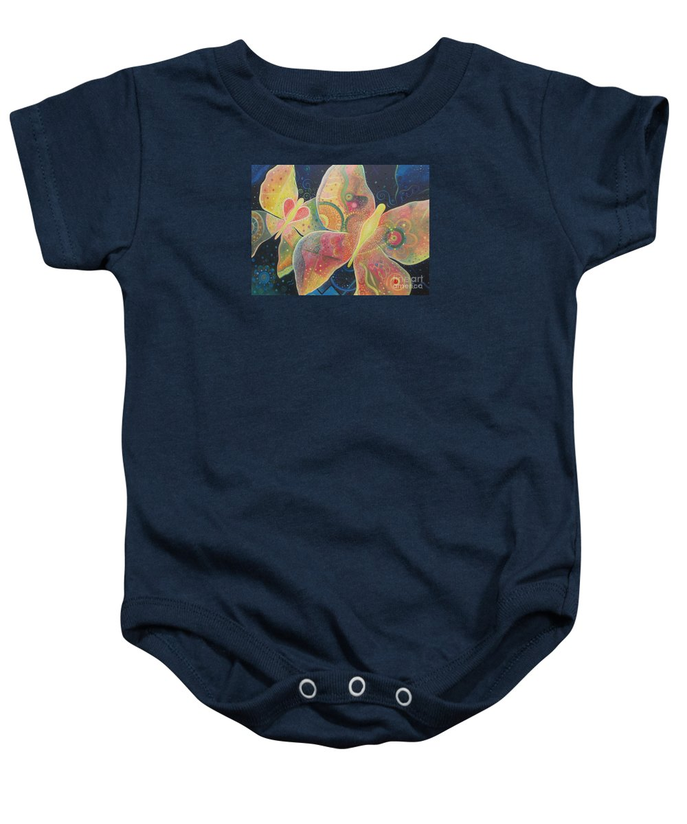 Butterfly Baby Onesie featuring the painting Lighthearted by Helena Tiainen