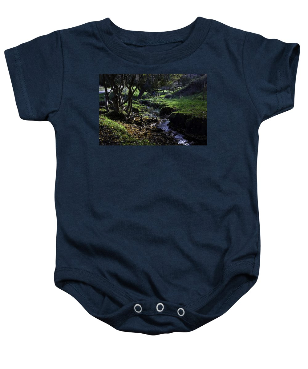 Stream Baby Onesie featuring the photograph Little Stream by Kelly Jade King