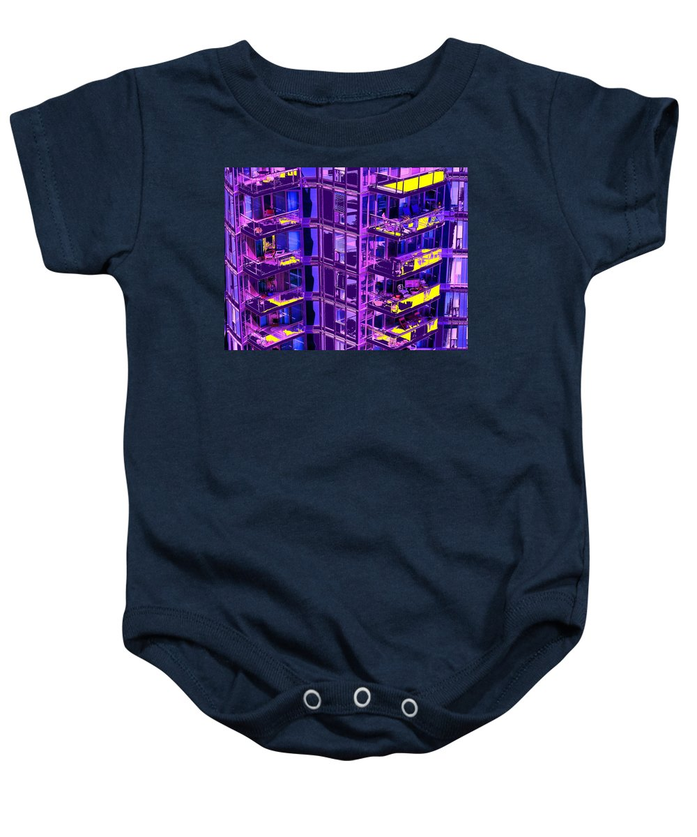 Urban Baby Onesie featuring the photograph Living Wall by Ian MacDonald