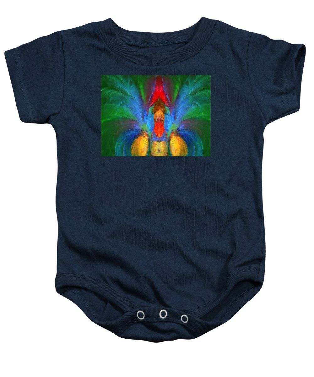 Abstract Baby Onesie featuring the digital art Lobster A La Abstract by Georgiana Romanovna