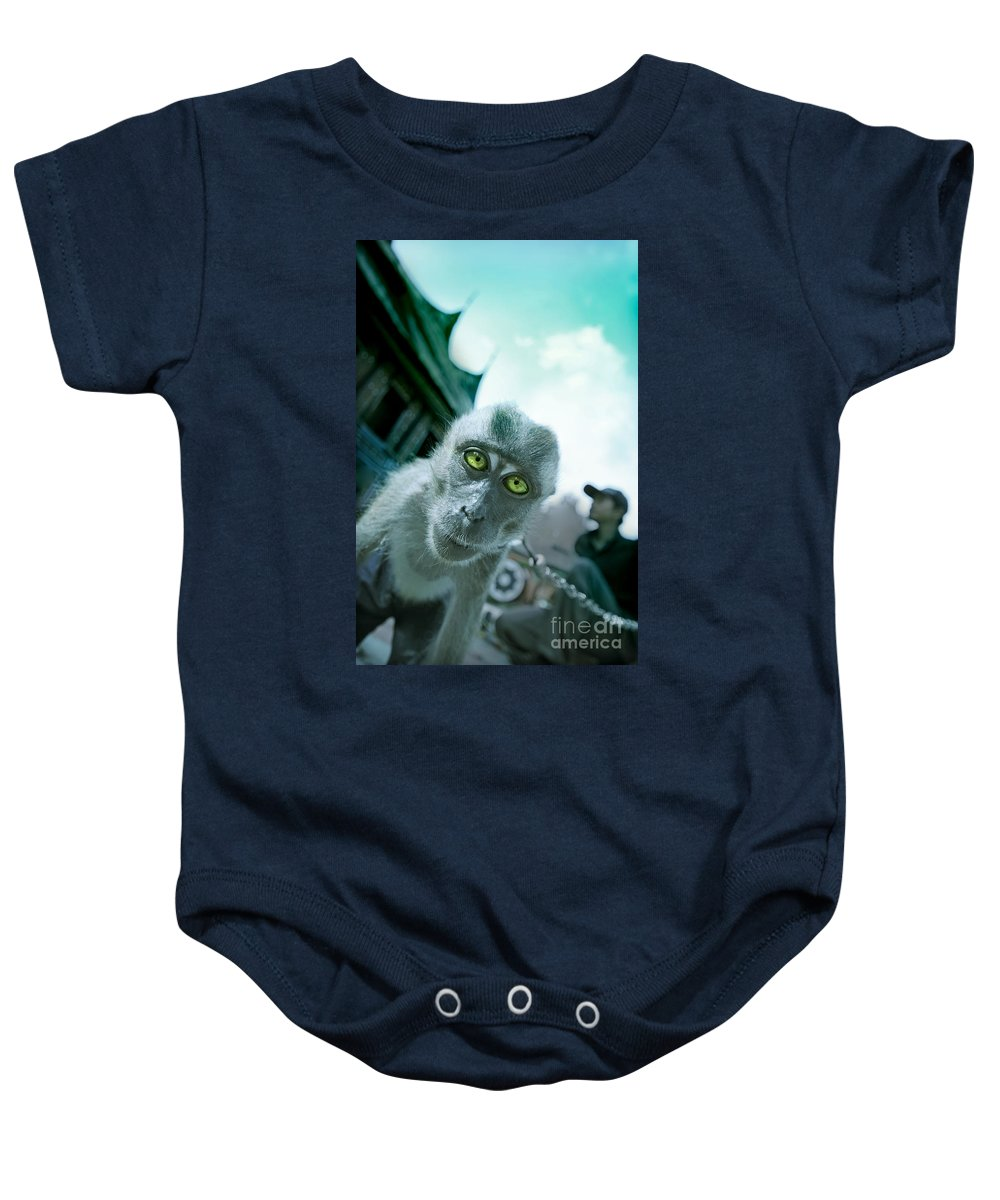 Monkey Baby Onesie featuring the photograph Look Into My Eyes by Charuhas Images