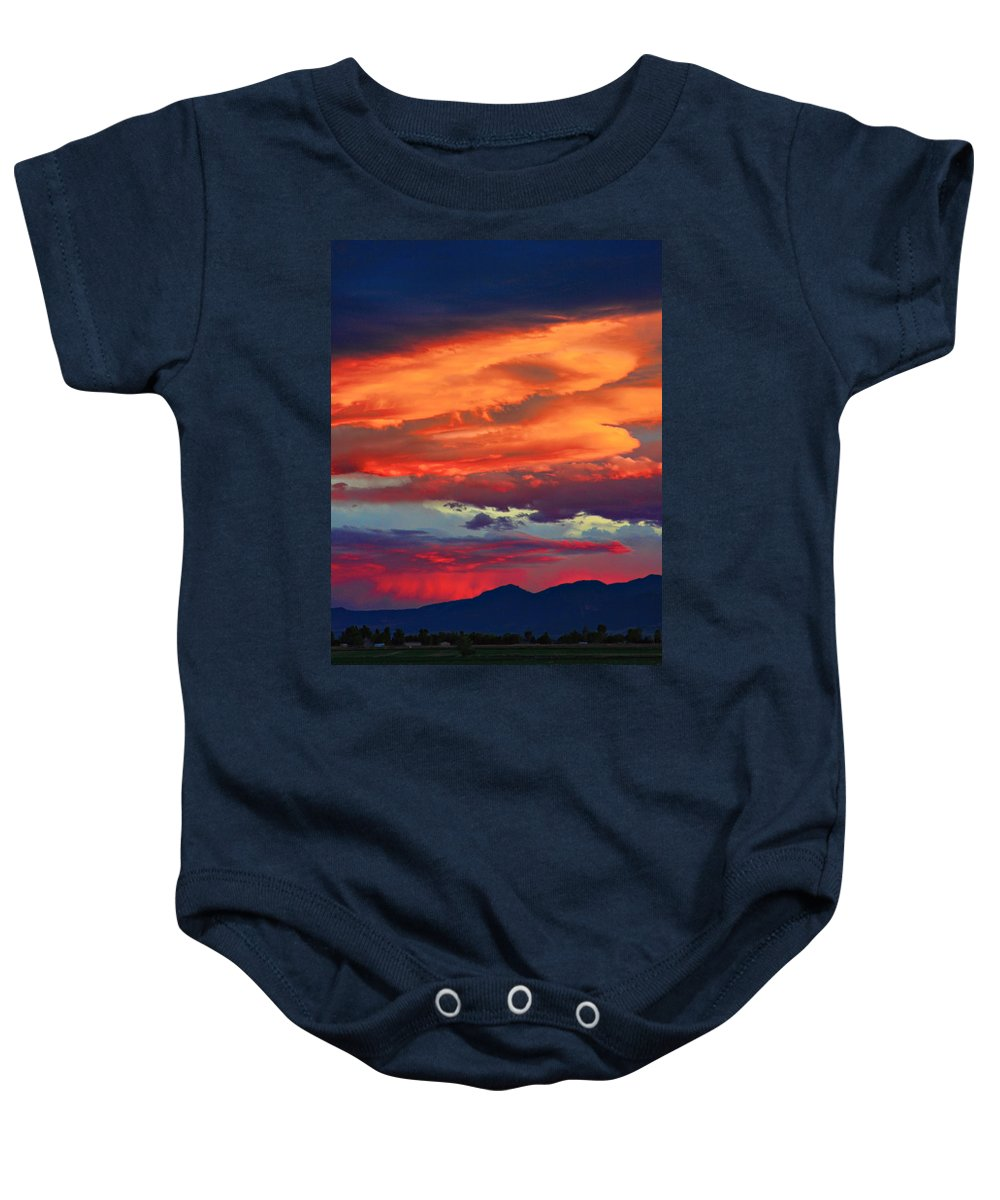 Sunsets Baby Onesie featuring the photograph Looking To Boulder by James BO Insogna