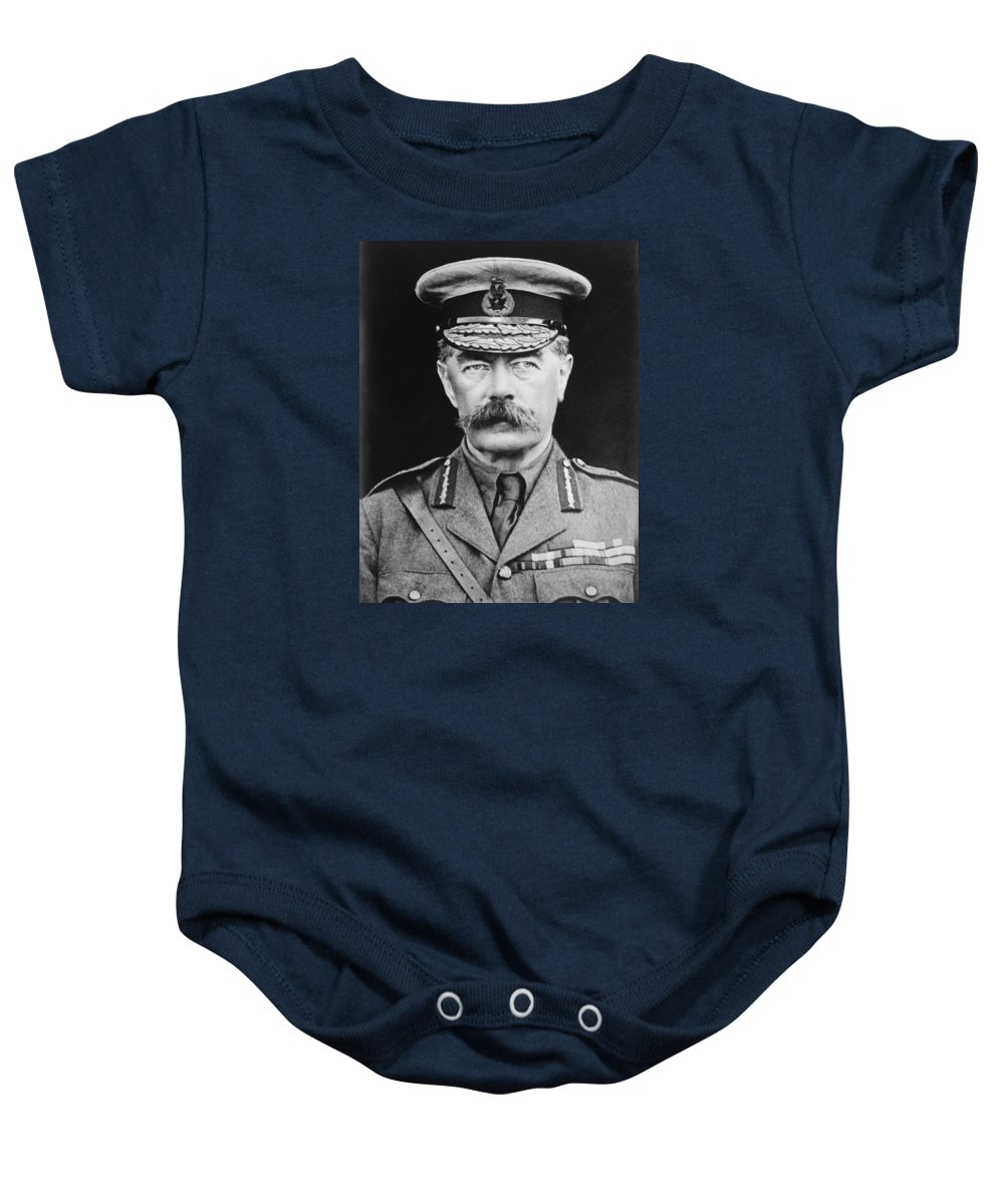 Wwi Baby Onesie featuring the photograph Lord Herbert Kitchener by War Is Hell Store