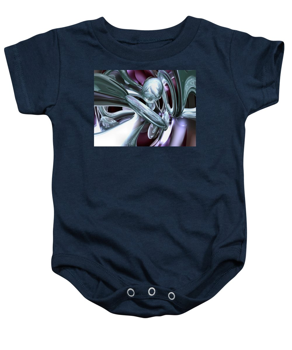 3d Baby Onesie featuring the digital art Lullaby Dreams Abstract by Alexander Butler