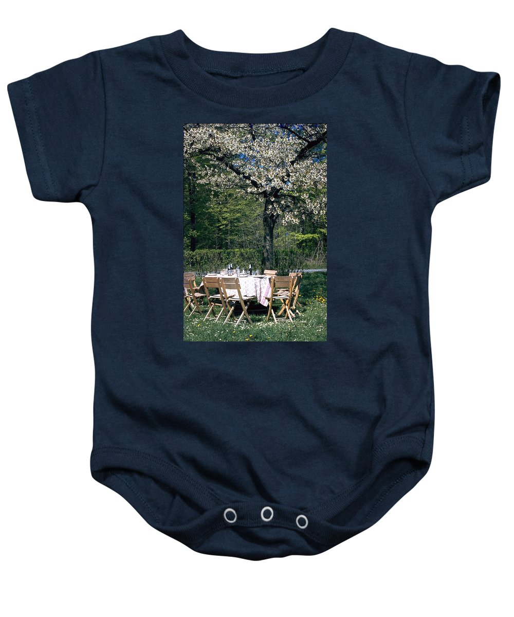 Lunch Baby Onesie featuring the photograph Lunch by Flavia Westerwelle