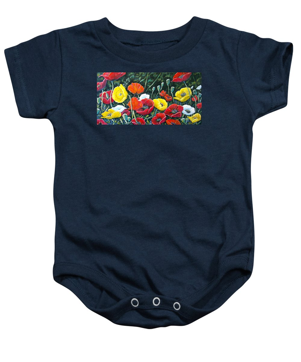 Art Baby Onesie featuring the painting Maestoso Opus by Richard T Pranke