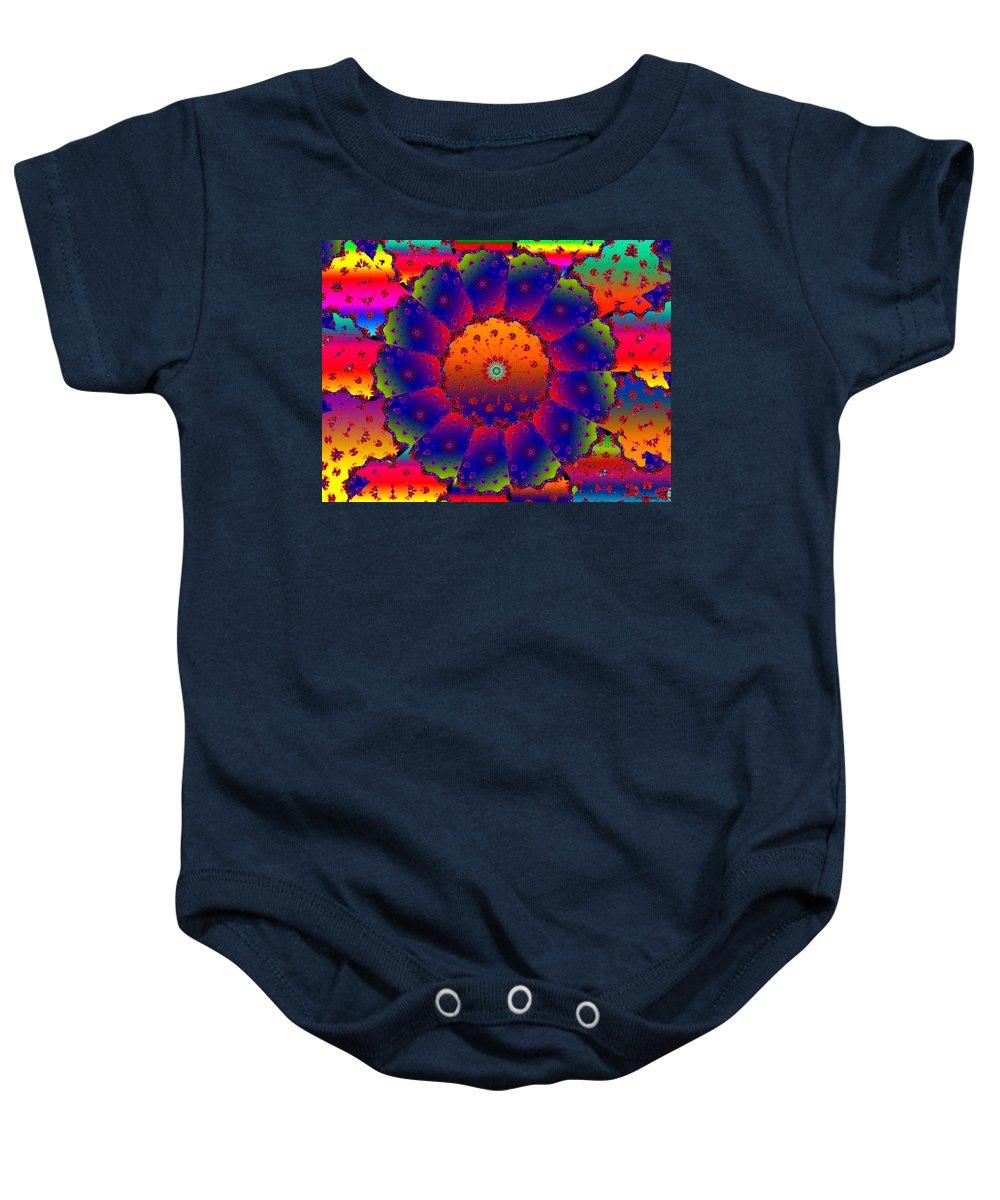 Mandelbrot Baby Onesie featuring the digital art Magic by Robert Orinski