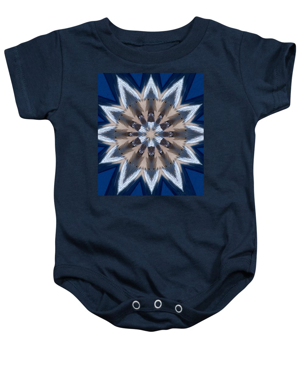 Mandala Baby Onesie featuring the photograph Mandala Sea Star by Nancy Griswold