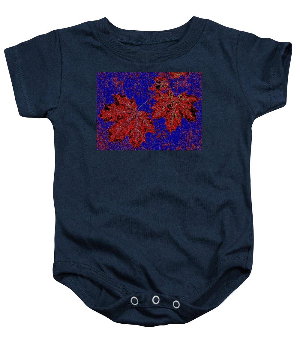 Cheerful Baby Onesie featuring the digital art Maple Mania 15 by Will Borden