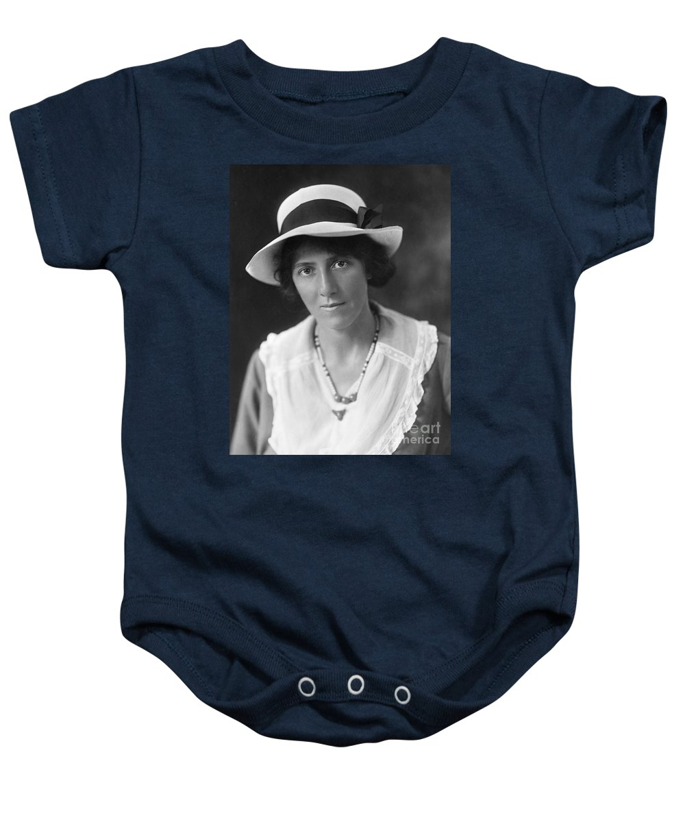 20th Century Baby Onesie featuring the photograph Marie Stopes (1880-1958) by Granger