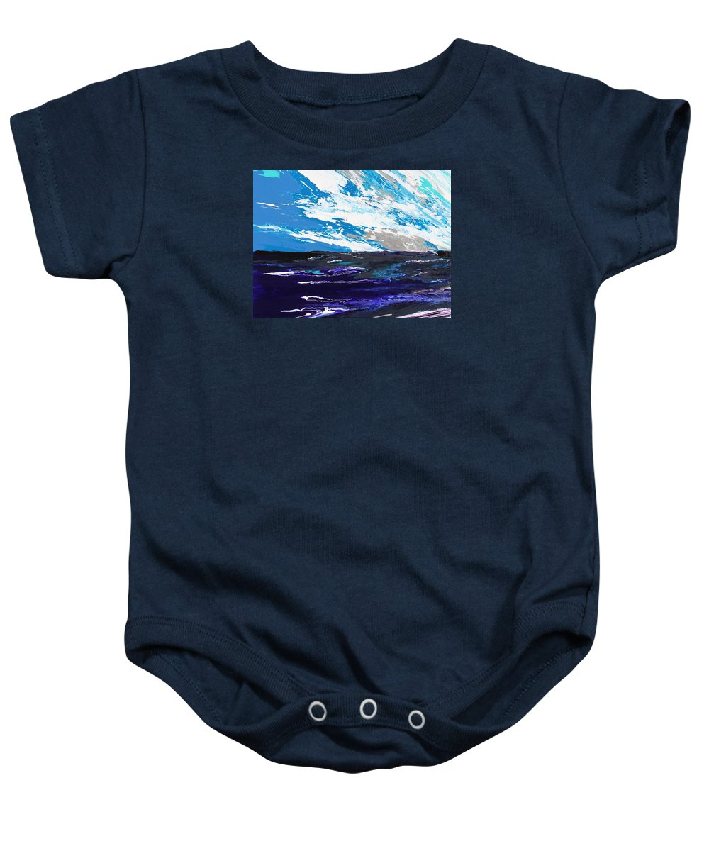Fusionart Baby Onesie featuring the painting Mariner by Ralph White