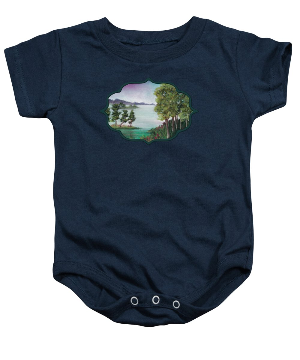 Melancholy Baby Onesie featuring the painting Melancholy Thoughts by Anastasiya Malakhova