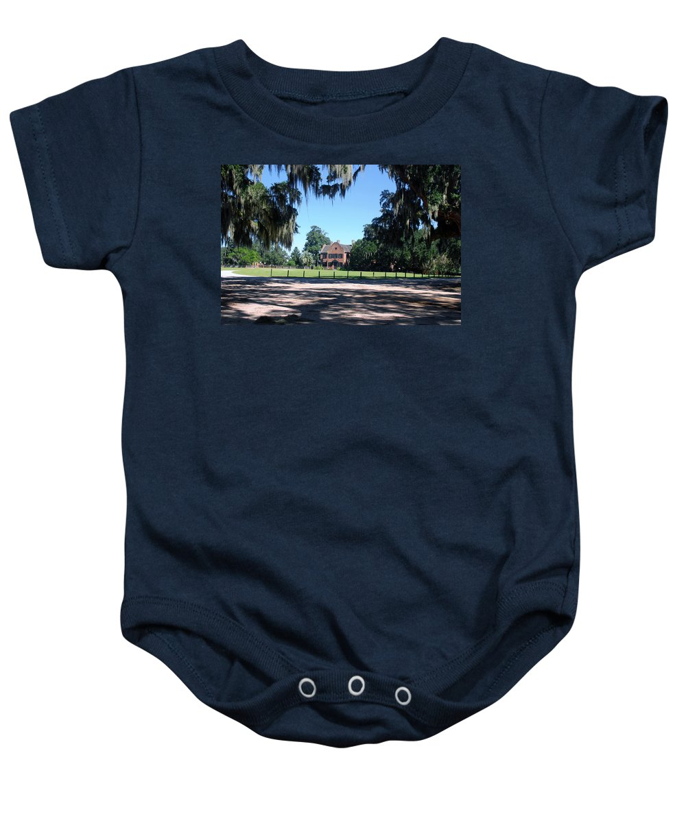 Photography Baby Onesie featuring the photograph Middleton Plantation Charleston Sc by Susanne Van Hulst