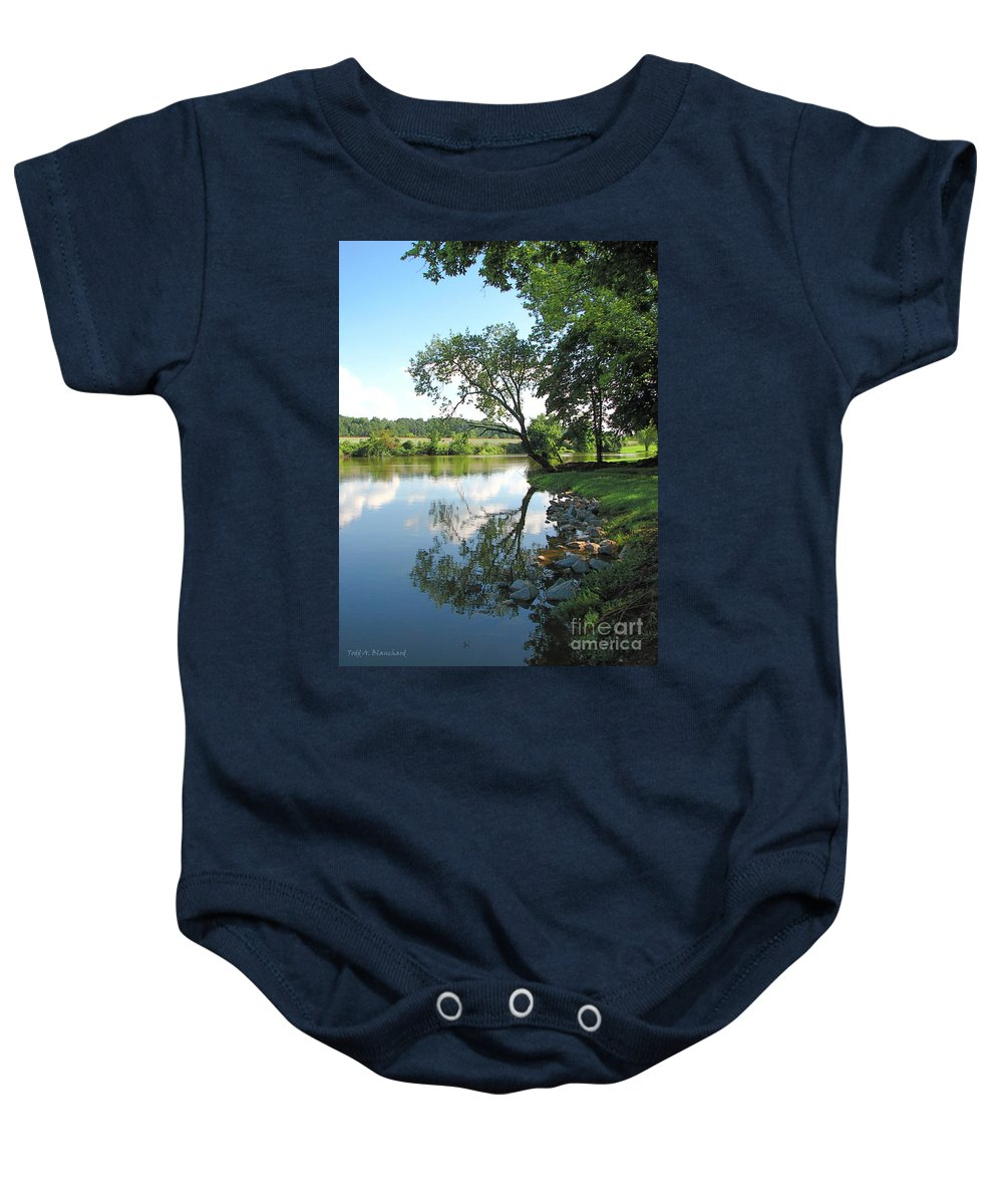 Landscape Baby Onesie featuring the photograph Mirror Image by Todd Blanchard
