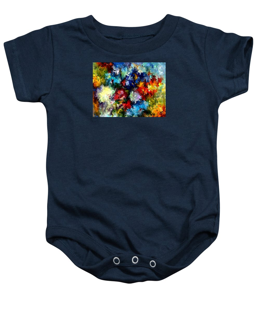 Contemporary Baby Onesie featuring the painting Modern Composition 03 by Rafi Talby
