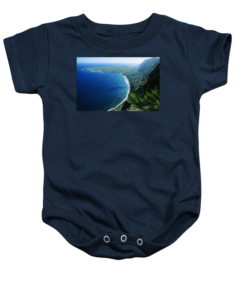 Above Baby Onesie featuring the photograph Molokai, View by Ali ONeal - Printscapes
