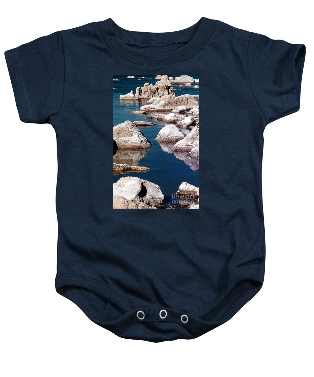 California Scenes Baby Onesie featuring the photograph Mono Lake Tufa by Norman Andrus