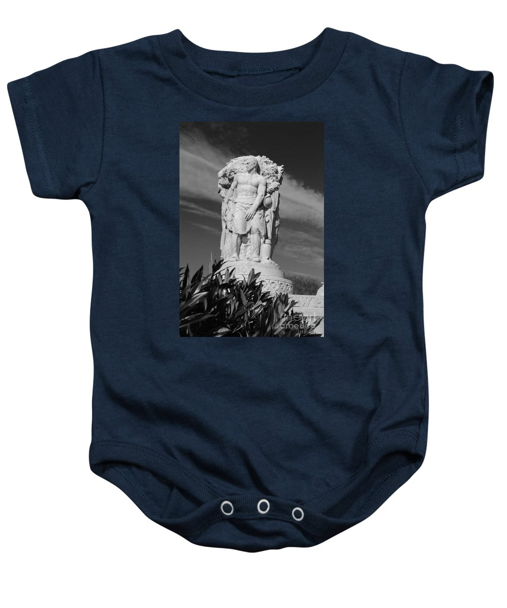 Washington Baby Onesie featuring the photograph Monument Of Man by Jost Houk