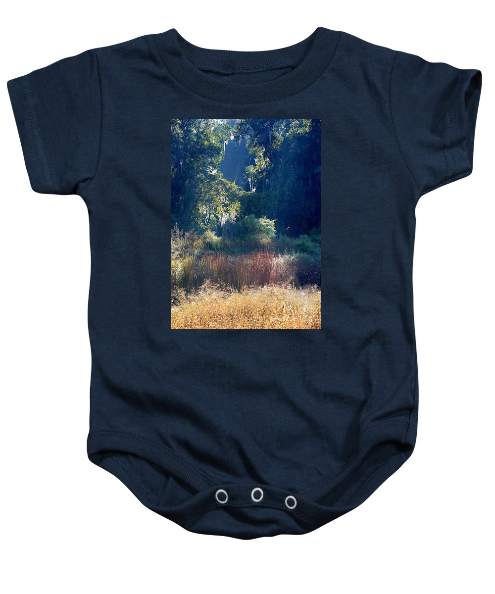 Sunshine Baby Onesie featuring the photograph Morning Marsh Sunshine by Carol Groenen