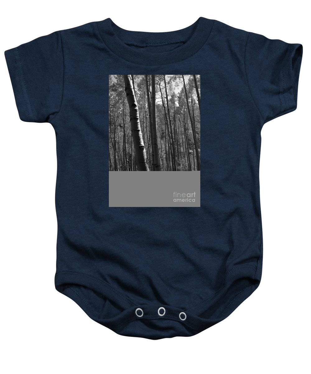 Mountains Baby Onesie featuring the photograph Mountain Aspens by David Lee Thompson