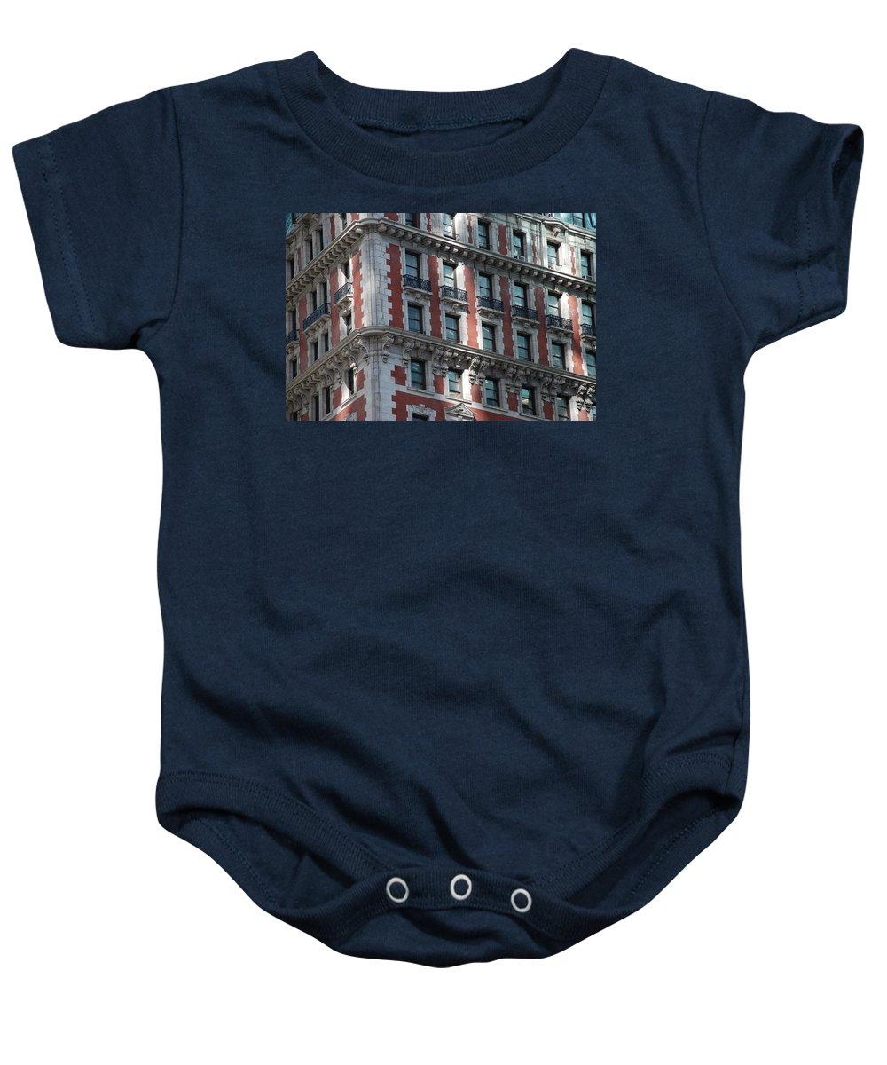 New York City Baby Onesie featuring the photograph N Y C Architecture by Rob Hans