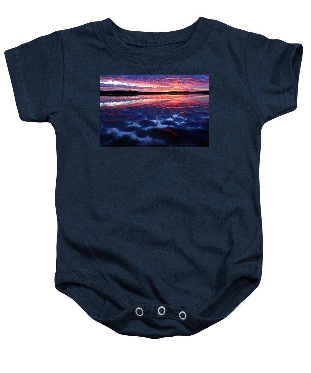 Namekus Lake Baby Onesie featuring the photograph Namekus Dawn by Larry Ricker