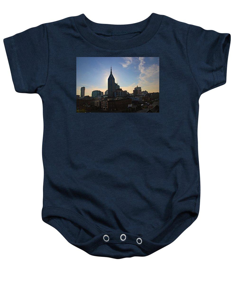 Nashville Photos Baby Onesie featuring the photograph Nashville Skyline by Susanne Van Hulst