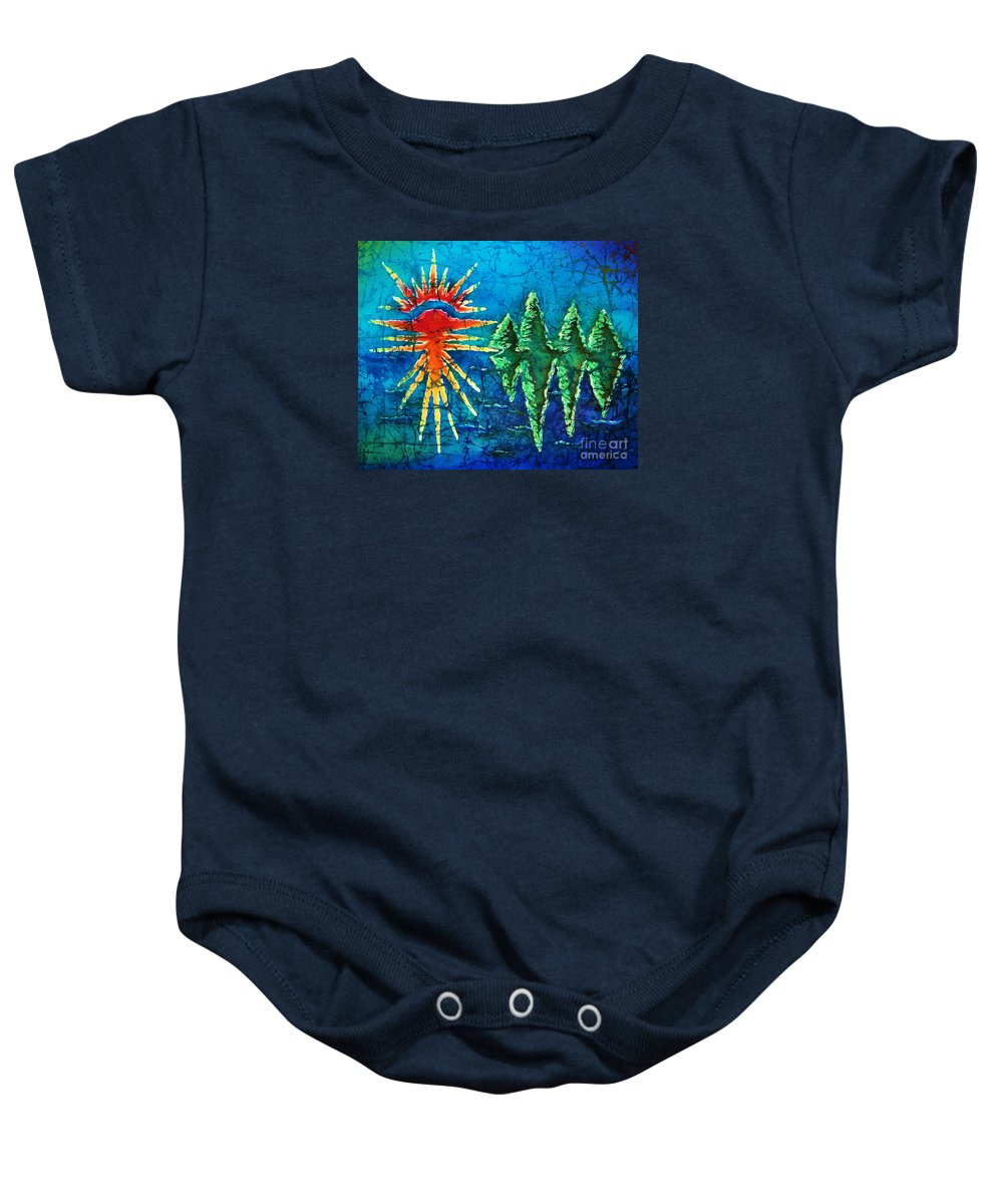 Trees Baby Onesie featuring the painting Nature by Sue Duda