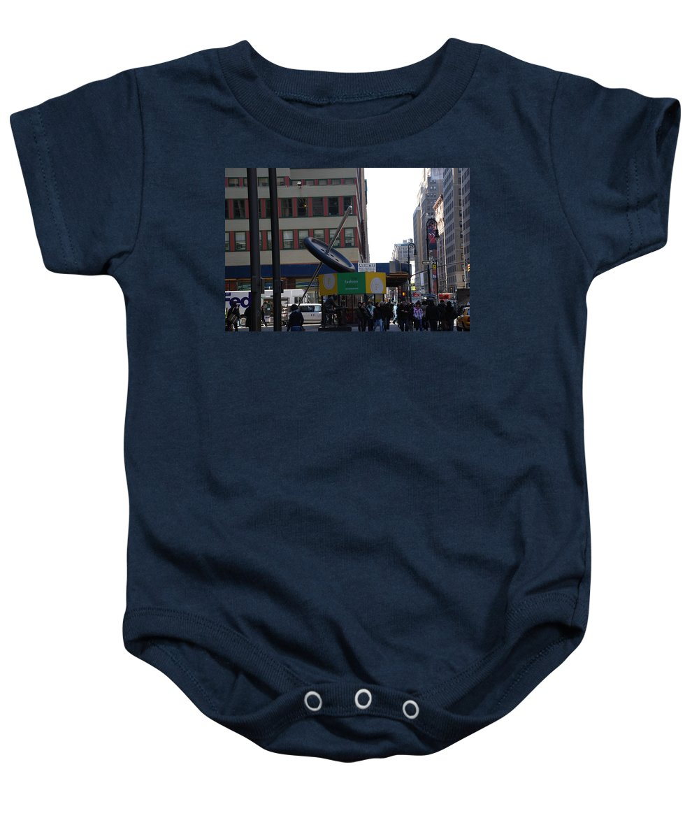 City Scape Baby Onesie featuring the photograph Needle Button by Rob Hans