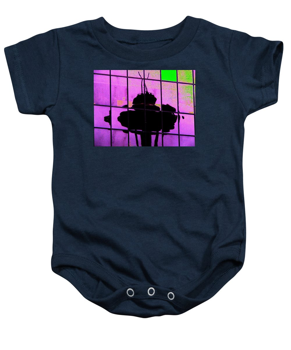 Seattle Baby Onesie featuring the digital art Needle Reflect 2 by Tim Allen
