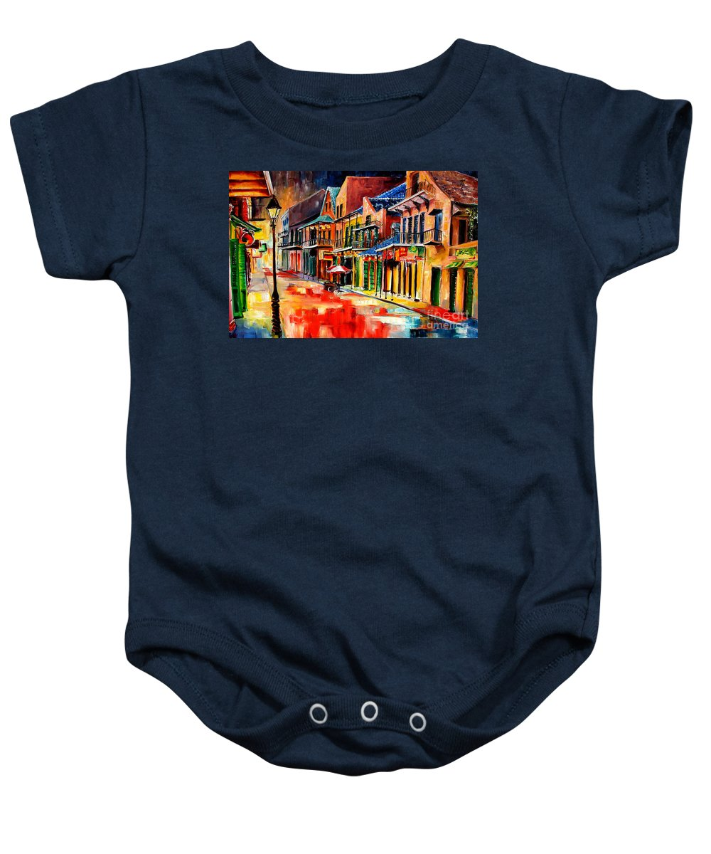 New Orleans Baby Onesie featuring the painting New Orleans Jive by Diane Millsap