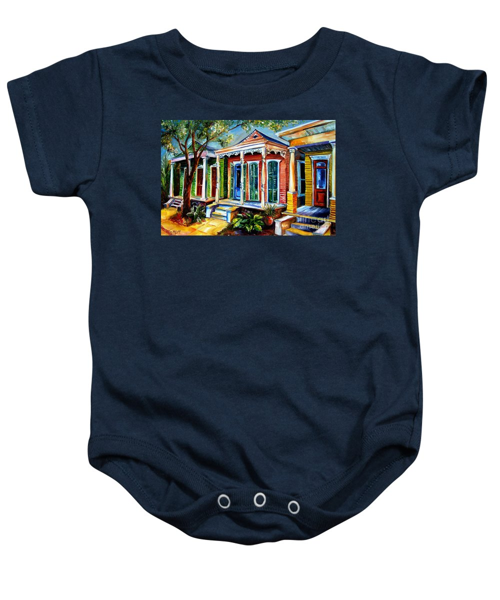 New Orleans Paintings Baby Onesie featuring the painting New Orleans Plain And Fancy by Diane Millsap