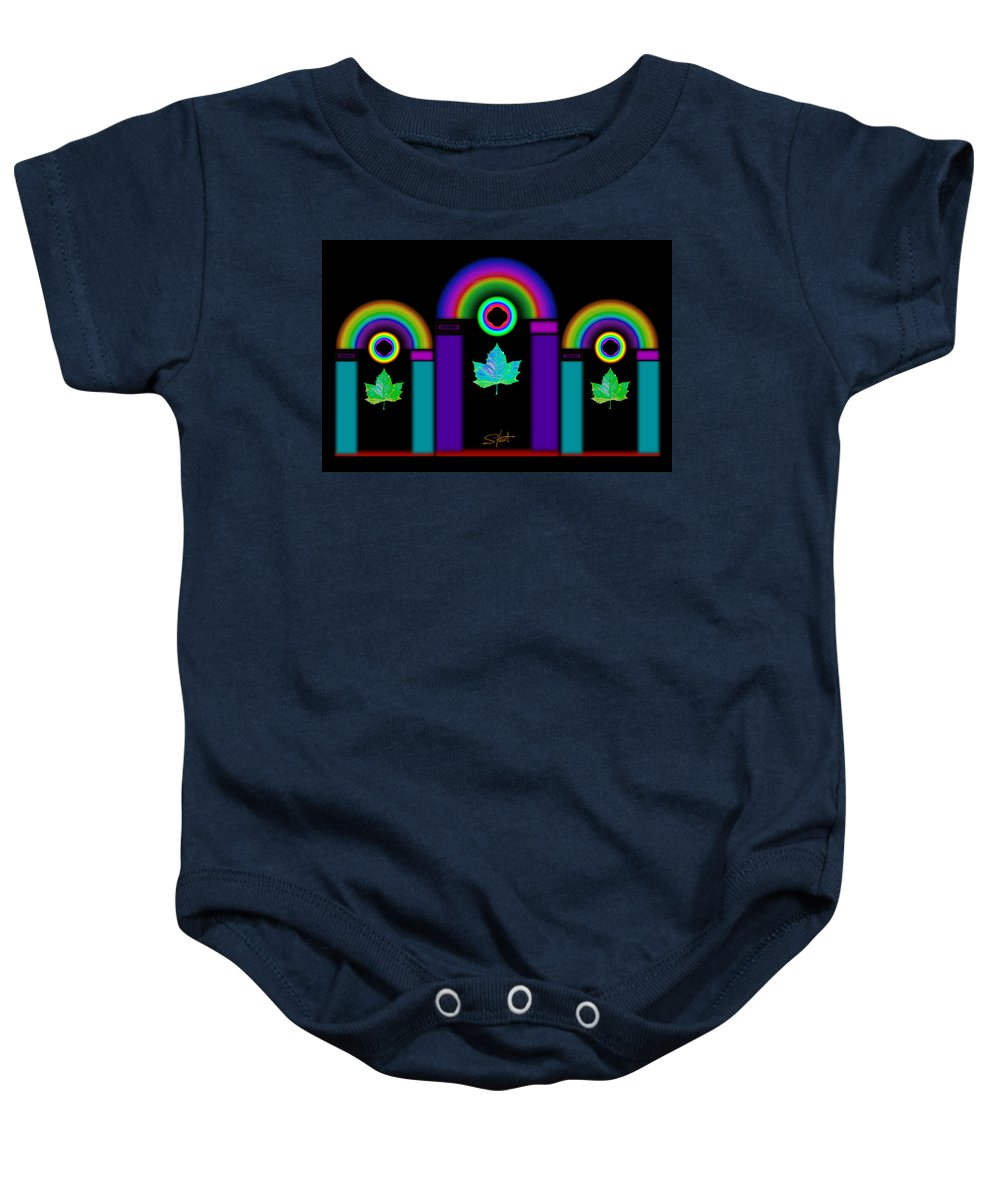 Classical Baby Onesie featuring the painting Night In Tuscan Winter by Charles Stuart