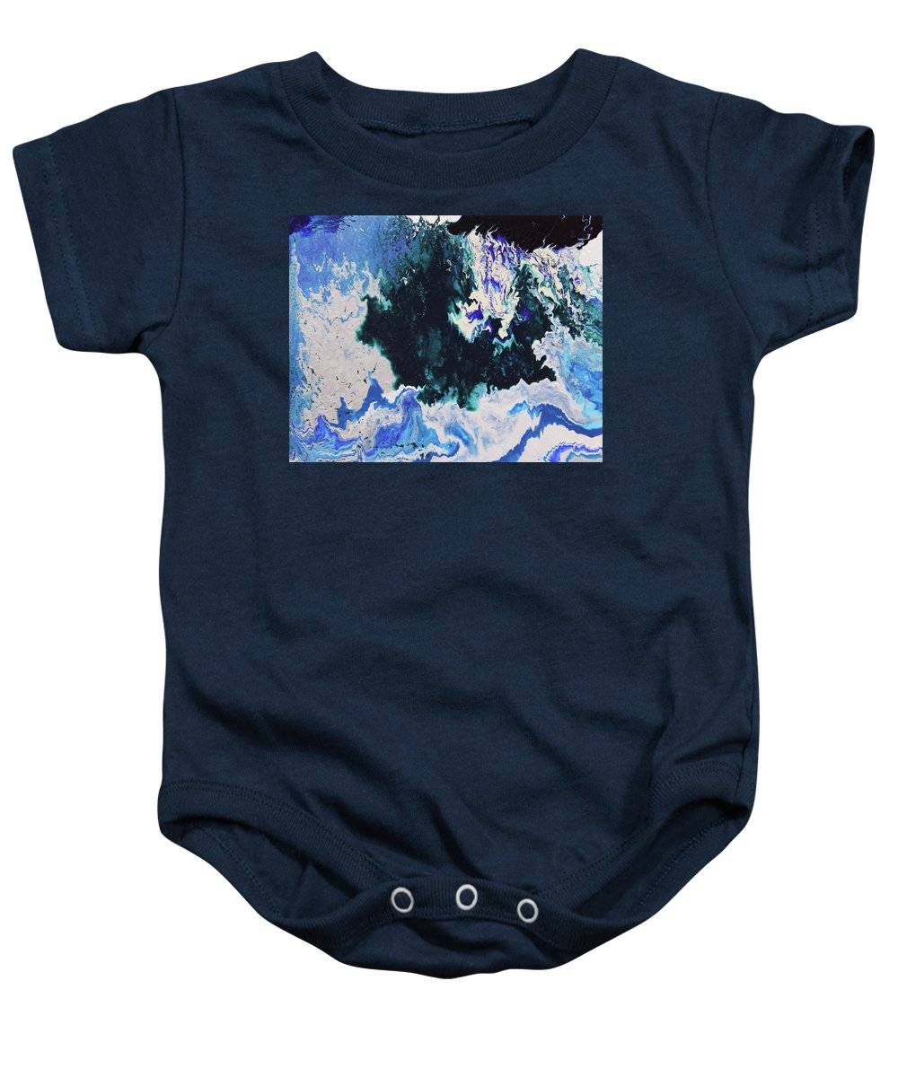 Fusionart Baby Onesie featuring the painting North Shore by Ralph White