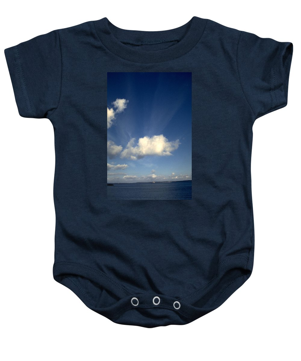 Northern Sky Baby Onesie featuring the photograph Northern Sky by Flavia Westerwelle