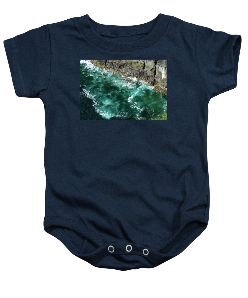 Irish Baby Onesie featuring the photograph Nowhere To Go Cliffs Of Moher Ireland by Teresa Mucha