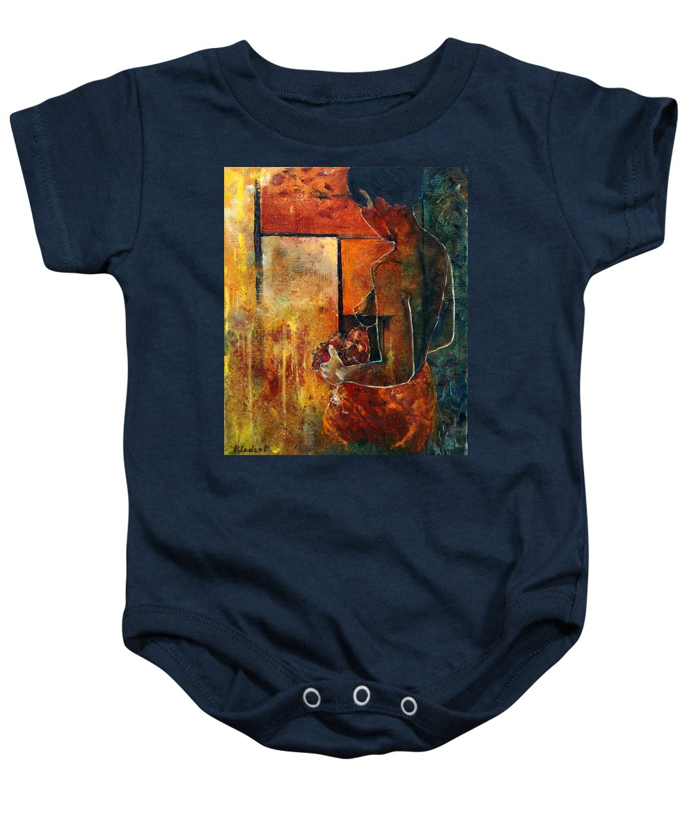 Woman Girl Fashion Nude Baby Onesie featuring the painting Nude by Pol Ledent
