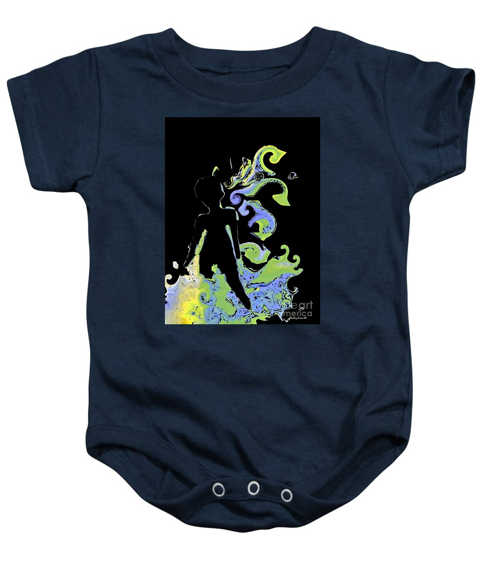 Ocean Baby Onesie featuring the digital art Ocean by Shelley Jones